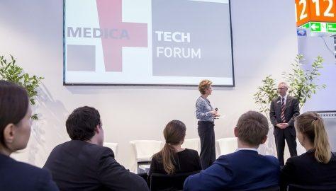 Sabine Stamm Moderatorin Fachmesse Medica Tech Forum Düsseldorf