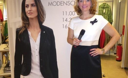 Sabine Stamm Moderatorin Fashionshow für Gerry Weber