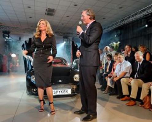 Sabine Stamm Moderatorin Moderation Gala Event Produkteinführung für Spyker