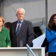 Sabine Stamm Moderatorin Wahlkampf Veranstaltung Event mit Angela Merkel und Dr. Jürgen Rüttgers