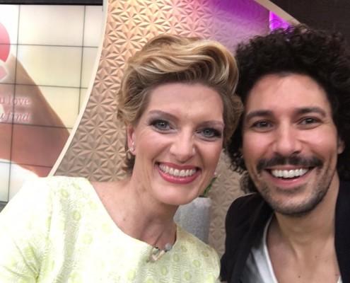 Sabine Stamm Boris Entrup Moderatorin QVC Markenbotschafterin für SBC Event TV Show