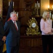 Sabine Stamm Moderatorin Laudatorin Ordensverleihung mit Ministerpräsident Dr. Jürgen Rüttgers