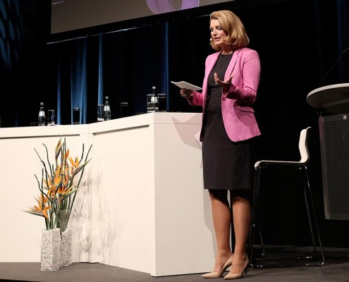 Sabine Stamm Moderatorin Tagung QSC